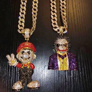 Other - Super Mario Gold Cuban Link Chain Iced Out Choker